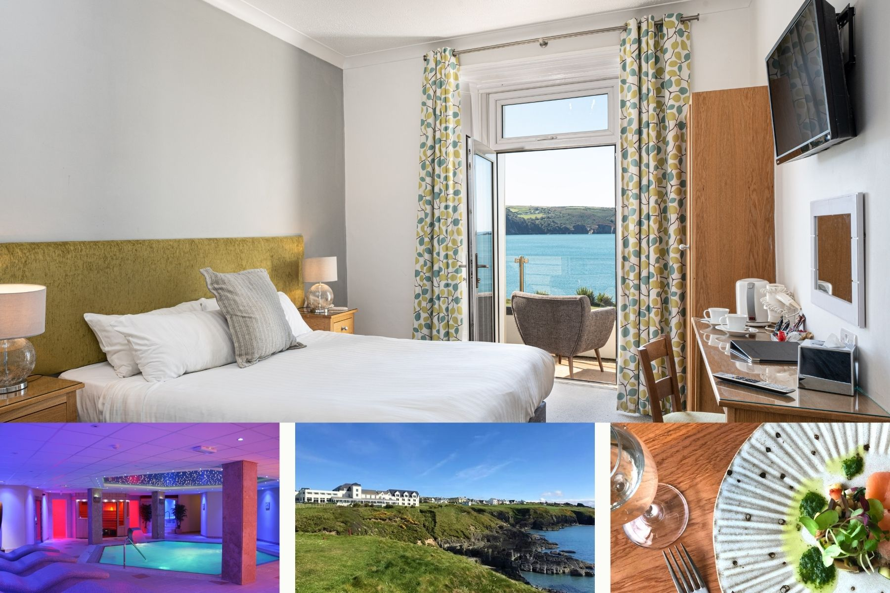 One Night Dinner, Bed & Breakfast in a Sea View Balcony Room