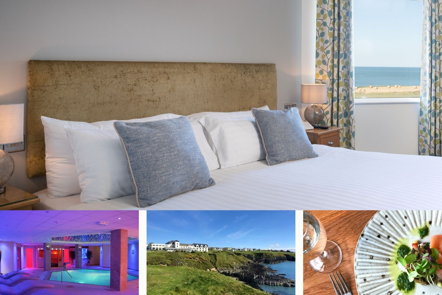 One Night Dinner, Bed & Breakfast in a Sea View Room